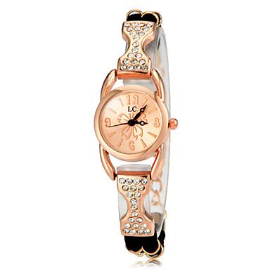 ieftine Ceasuri Damă-Pentru femei Ceasuri de lux Ceas Casual Ceas Brățară Quartz Placat Cu Aur Roz Negru / Alb / Violet imitație de diamant Analog femei Elegant - Negru Mov Trandafiriu