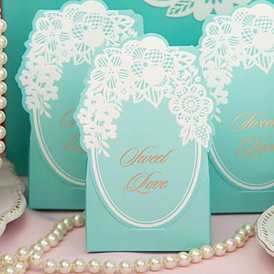 Chic Cutii Green Favor nunta - Set de 12