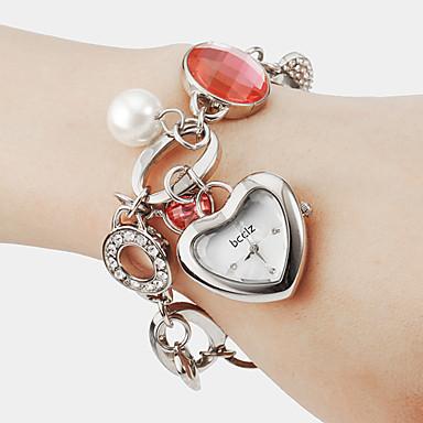 Dámské Módní hodinky Náramkové hodinky Křemenný Kapela Bílá Zlatá Stříbrná