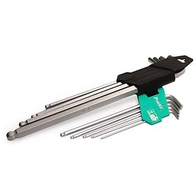 Pro′sKit  HW-229B 9PCS Hex Key Set(1.5,2,2.5,3, 4,5,6,8,10mm)