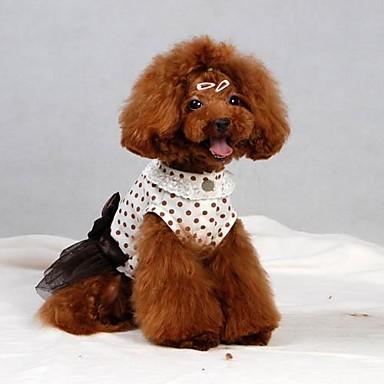 Hund Kjoler Hundetøj Hvid Kostume For kæledyr