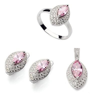 Sady šperků Párty Denní Ležérní Postříbřené Prstýnky Küpeler Náhrdelníky