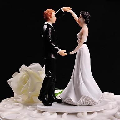 Vârfuri de Tort Temă Florală Temă Clasică Cuplu Clasic Reșină Nuntă cu Cutie de Cadouri
