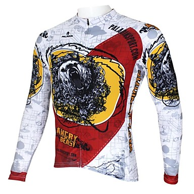ILPALADINO Men's Long Sleeve Cycling Jersey Bike Jersey, Thermal / Warm, Quick Dry, Ultraviolet Resistant