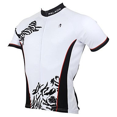 ILPALADINO Cycling Jersey Men's Short Sleeves Bike Jersey Top Quick Dry Ultraviolet Resistant Breathable 100% Polyester Patchwork Spring