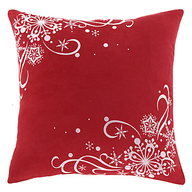 1 pcs Polyester Pillow Cover, Holiday Casual