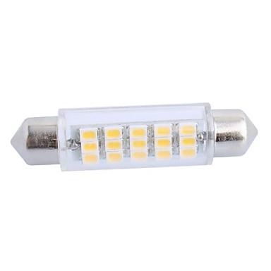 43mm 3.5W 160LM 3000K 15x3020 SMD Warm White LED for Car Reading/License Plate/Door Lamp (DC12V, 1Pcs)