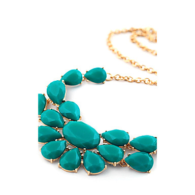 Necklace Statement Necklaces Jewelry Party / Daily / Casual Fashion Alloy / Rhinestone Silver 1pc Gift