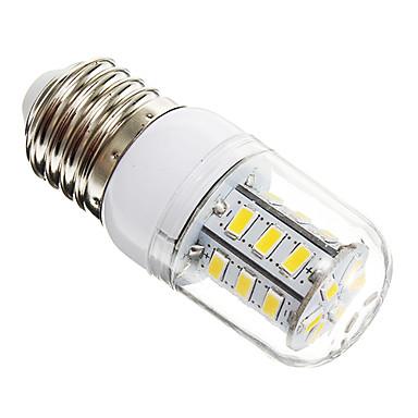 450 lm E26/E27 Becuri LED Corn T 24 led-uri SMD 5730 Alb Cald AC 220-240V