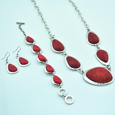 Women's Jewelry Set Fashion Alloy Necklaces Earrings Bracelets & Bangles ForParty Special Occasion Anniversary Birthday Engagement Gift