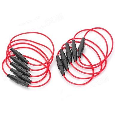 5 x 20 mm Sicherungsgrundhalter - (rot + schwarz) (10 PCS)