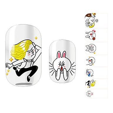 28PCS Funny Cartoon Design Nail Art Stickers