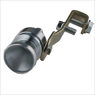 Car Turbo Sound Whistling Turbocharger - Silver (Size M)