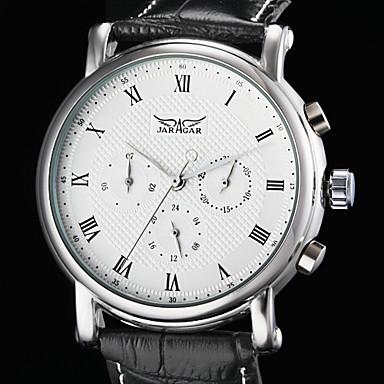 WINNER Férfi Karóra / mechanikus Watch Naptár PU Zenekar Luxus Fekete