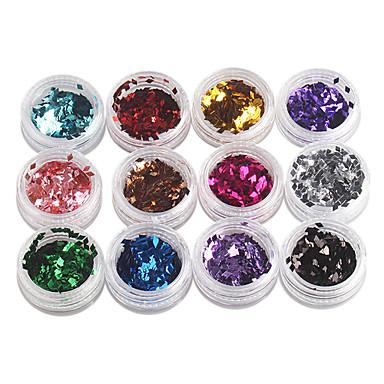 12-culoare romb paiete Nail Art Decoratiuni