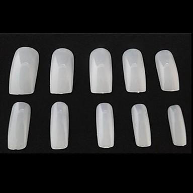 10x50pcs mixs grootte natuurlijke volledige nail art tips