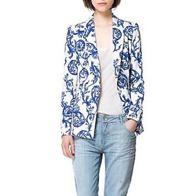 Women's Ceramic Printing Leisure Suit Jacket