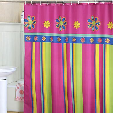 Shower Curtains Modern Polyester Stripe Machine Made