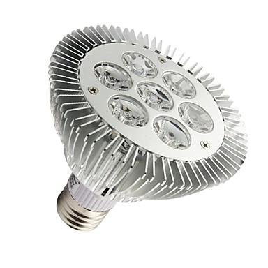 7W E26/E27 LED Par Lights PAR30 7 High Power LED 630-680 lm Warm White Dimmable AC 100-240 V