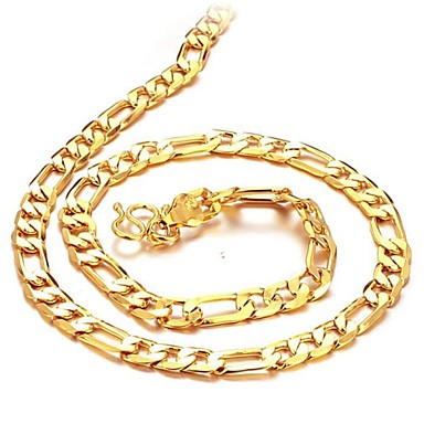 Men's Shape Chain Necklace Gold Plated 18K Gold Chain Necklace Christmas Gifts Wedding Party Daily Casual Costume Jewelry