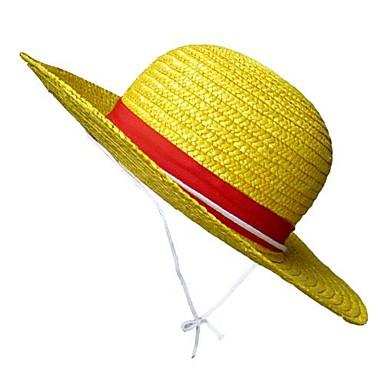 Sombrero   Gorra Inspirado por One Piece Monkey D. Luffy Animé Accesorios  de Cosplay Sombrero 5c5998a571e