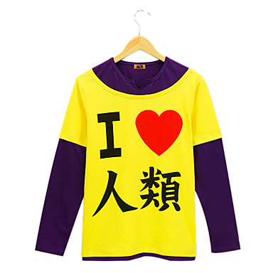 Inspired by No Game No Life Cosplay Anime Cosplay Costumes Cosplay Hoodies Print Long Sleeves T-shirt For Men's