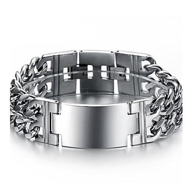 Herrn Edelstahl Manschetten-Armbänder - Silber Armbänder Für Weihnachts Geschenke Hochzeit Party