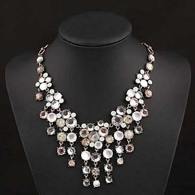 senlan elegantne ženske kristalno cvijet čvoranja ogrlica