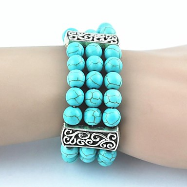 Women's Strand Bracelet Unique Design Fashion Turquoise Alloy Jewelry Jewelry For Party Daily