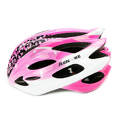 Others Men's Mountain / Road / Half Shell Bike helmet 18 Vents Cycling Cycling Medium: 55-59cm / Large: 59-63cm PC / EPS White / Pink