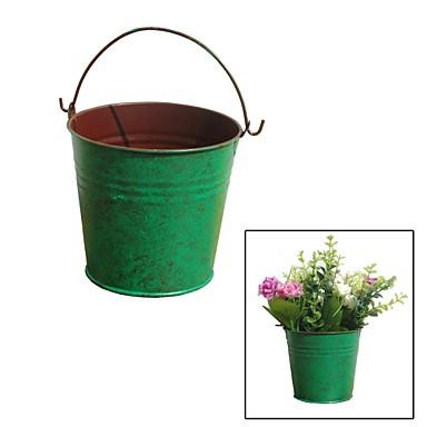 Creative Restoring Ancient Ways, Simple Green Tin Bucket