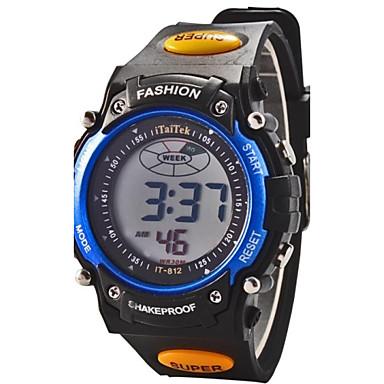 Цифровой электронные часы / Спортивные часы Будильник / Календарь / Секундомер / Cool / ЖК экран Pезина Группа Мода Черный