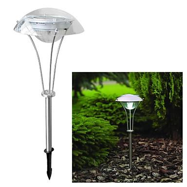 3-LED Solar Power White Outdoor Garden Pathway Landscape Night Light