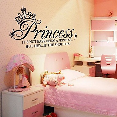 Doudouwo® Words and Quotes The Princess Words Wall Stickers