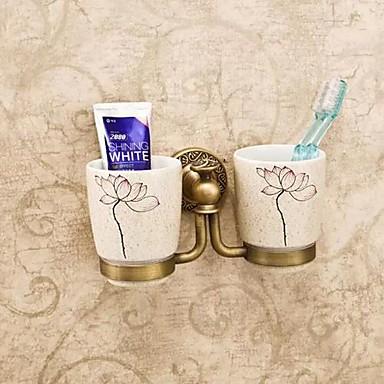 Toothbrush Holder Antique Brass Ceramic Antique Brass