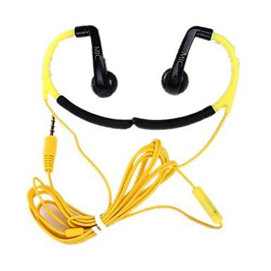 IN-042 EARBUD Ørekrog Ledning Hovedtelefoner Plast Sport & Fitness øretelefon Med Mikrofon Headset