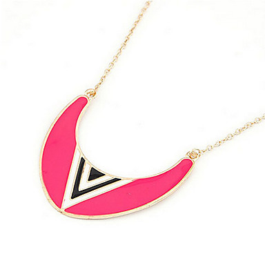JoJo&Lin Fluorescence Color Moon Pattern Dangling Necklace