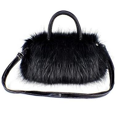Damen Taschen PU Schultertasche für Normal Weiß / Schwarz