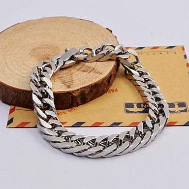 Men's Chain Bracelet Unique Design Fashion Stainless Steel Others Jewelry Christmas Gifts Daily Casual Sports Costume Jewelry