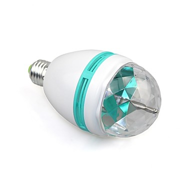 e27 Vollfarb 3w RGB-LED-Projektor Kristall Bühne Licht magische Kugel dj Hasel Party Disco-Effekt Glühbirne Lampe (110-240V)