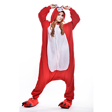 Pyžama Kigurumi Liška Pyžamo Onesie Kostým polar fleece Červená Cosplay Pro Animal Sleepwear Karikatura Halloween Festival / Svátek