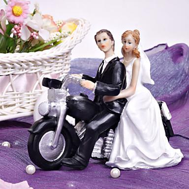Tortenfiguren & Dekoration Nicht-personalisierte Klassisches Paar / Fahrzeug Harz Brautparty / Hochzeit Weiß / SchwarzGarten Thema /