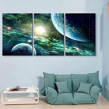 Stretched Canvas Print Canvas Set Fantasy Three Panels Vertical Print Wall Decor Home Decoration