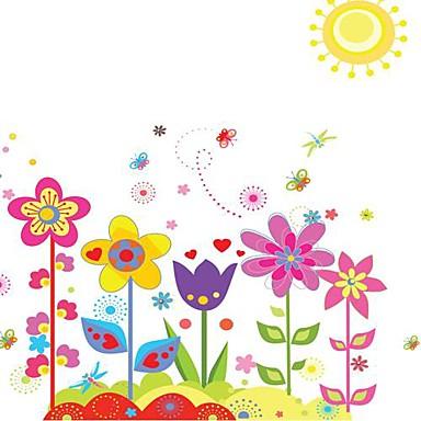 květiny Samolepky na zeď Samolepky na stěnu Ozdobné samolepky na zeď, Vinyl Home dekorace Lepicí obraz na stěnu Stěna