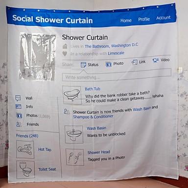 Vina  Social Website Design European Water-proof polyester Bath shower curtain