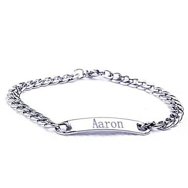 cadou personalizat din oțel inoxidabil de bijuterii gravate bratari id latime 0.7cm