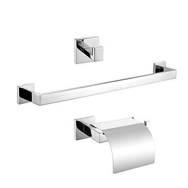 Bad Zubehör-Set Gute Qualität Moderne Edelstahl 3 Stück - Hotelbad Turm Bar Kleiderhaken Toilettenpapierhalter
