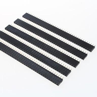 GDW az13 40-контактный 2.54мм контактные разъемы - черный (5 шт)