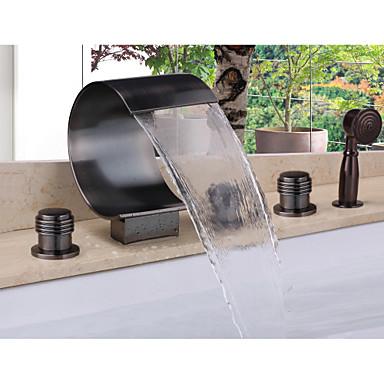 Badewannenarmaturen - Moderne Öl-riebe Bronze Badewanne & Dusche Keramisches Ventil