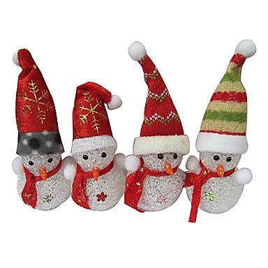 Crăciun om de zăpadă eva cristal de culoare schimbare lumina de noapte
